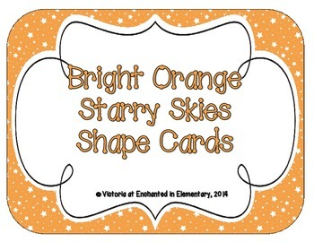 Bright Orange Starry Skies Shape Cards