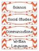 Bright Orange & White Chevron Schedule Cards