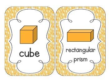 Bright Orange Zebra Print Shape Cards