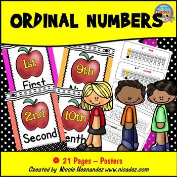 Number Posters - Ordinal Numbers
