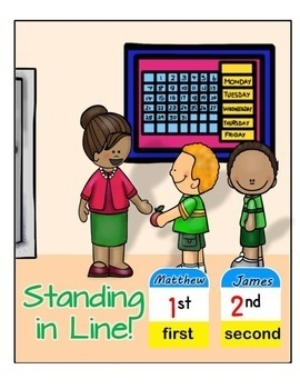 Number Posters - Ordinal Numbers 1st to 10th