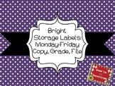 Bright Organization Labels Mon-Fri and Copy, Grade, File