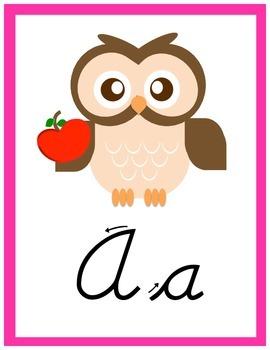 Bright Owl ABCs - Cursive