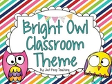 Bright Owl Classroom Theme- HUGE, Bundled, Chevron, Stripes, Dots