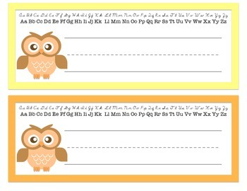 Bright Owl Desk Name Plates
