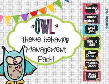 Bright Owl Theme Behavior Clip Chart