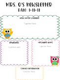 Bright Owl Themed Newsletter Template