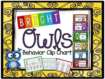 Bright Owls Behavior Clip Chart