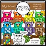 Bright Owls Clipart {A Hughes Design}