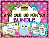 Bright Owls and Polka Dot BUNDLE! {Editable!}