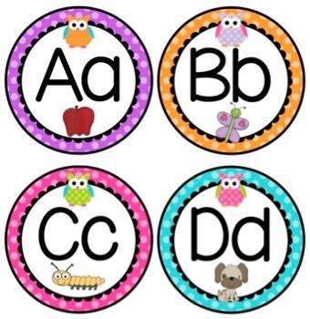Bright Owls and Polka Dot Classroom Decor {EDITABLE!}