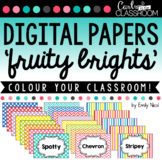 """Digital Papers - """"Fruity Brights"""""""