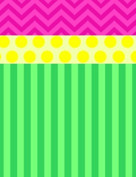 Bright Papers: Dots, Chevron, & Stripes!!