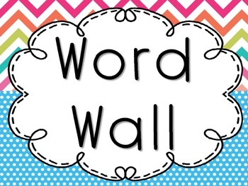 Bright Pastel Word Wall Pack