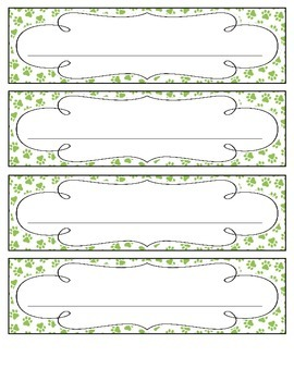 Bright Paw Prints Nameplates
