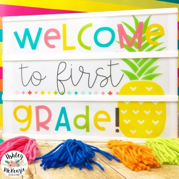Bright Pineapple Back to School Light Box Freebie -Heidi Swapp or Leisure Arts