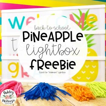 Bright Pineapple Back to School Light Box Freebie -Heidi Swapp or Leisure Arts