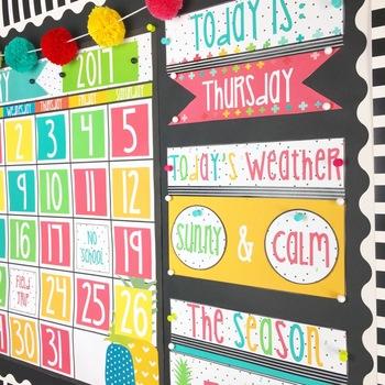 Bright Pineapple Calendar Kit