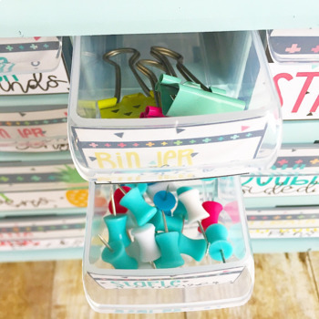 Bright Pineapple Teacher Toolbox Labels -Editable