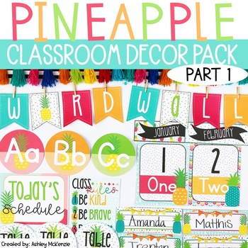 Bright Pineapple Classroom Decor | Part 1