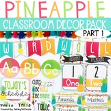 **Part 1** Bright Pineapple Themed Decor Pack! -Editable