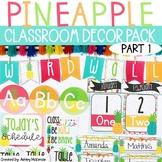 **Part 1** Bright Pineapple Themed Decor Pack! -Editable