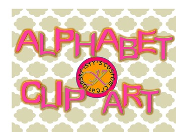 Bright Pink Alphabet/Letter Clipart