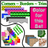 Bright Pink Borders Trim Corners *Create Your Own Dream Classroom/Daycare*