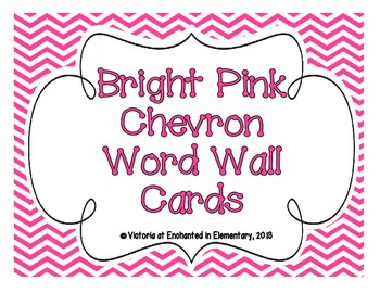Bright Pink Chevron Word Wall Cards