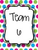 Bright Pink, Green, & Blue Group Signs *Back to School*
