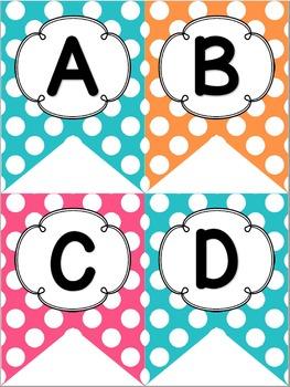 Bright Pink, Orange, and Teal Polka Dot Decor Pack