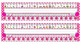 Bright Pink Polka Dot Desk Reference Nameplates