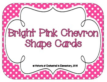 Bright Pink Polka Dot Shape Cards