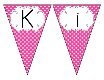 Bright Pink Polka Dot Welcome Pennant