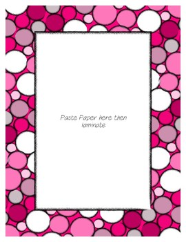 Bright Pink Poster Frames * Create Your Own Dream Classroom / Daycare *