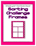 Bright Pink Sorting Mat Frames * Create Your Own Dream Cla