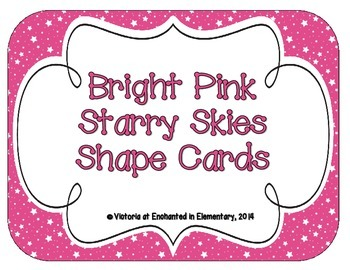 Bright Pink Starry Skies Shape Cards