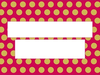 Bright Pink with Yellow Polka Dots PowerPoint Template