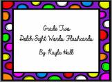 *Bright* Polka Dot 2nd Grade Dolch Sight Word Flashcards