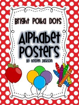 Bright Polka Dot ABC Posters
