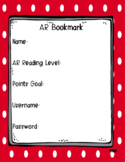 Editable Bright Polka Dot AR Bookmarks