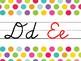 Bright Polka Dot Cursive Alphabet Line