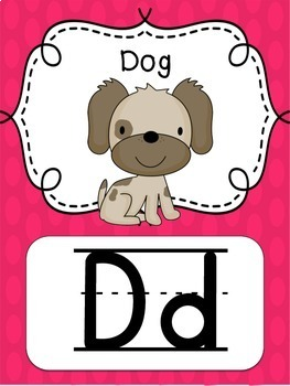 {Bright Polka Dot} Alphabet Line with Pictures