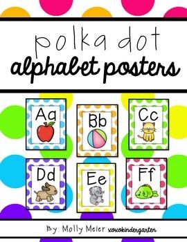 Bright Polka Dot Alphabet Posters