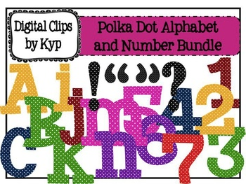 Bright Polka Dot Alphabet and Number Set