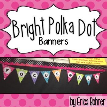 Bright Polka Dot Banners