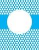 FREE EDITABLE Bright Polka Dot Binder Covers