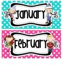 Bright Polka Dot Calendar Pieces