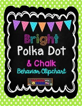 Bright Polka Dot & Chalk Behavior Clipchart