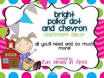 Multi-Polka Dot & Chevron Classroom Decor